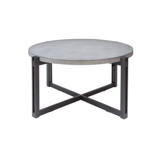 Dakota Coffee Table with Round Concrete Finish Top