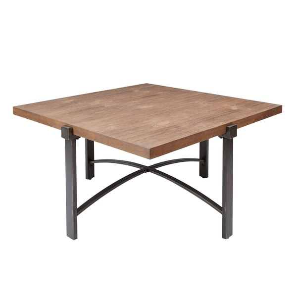 Lewis Coffee Table with Square Wood Top