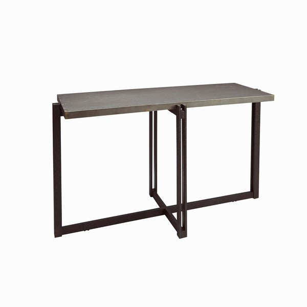 Dakota Console Table with Metal Top