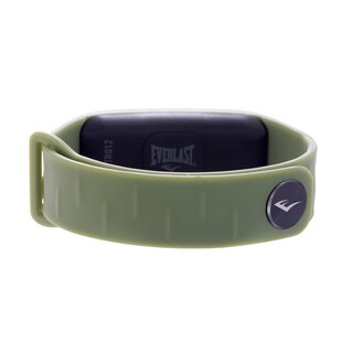 Everlast TR12 Fitness Activity bluetoth Tracker W/LED Display Monitor - Grey (Option: Green)