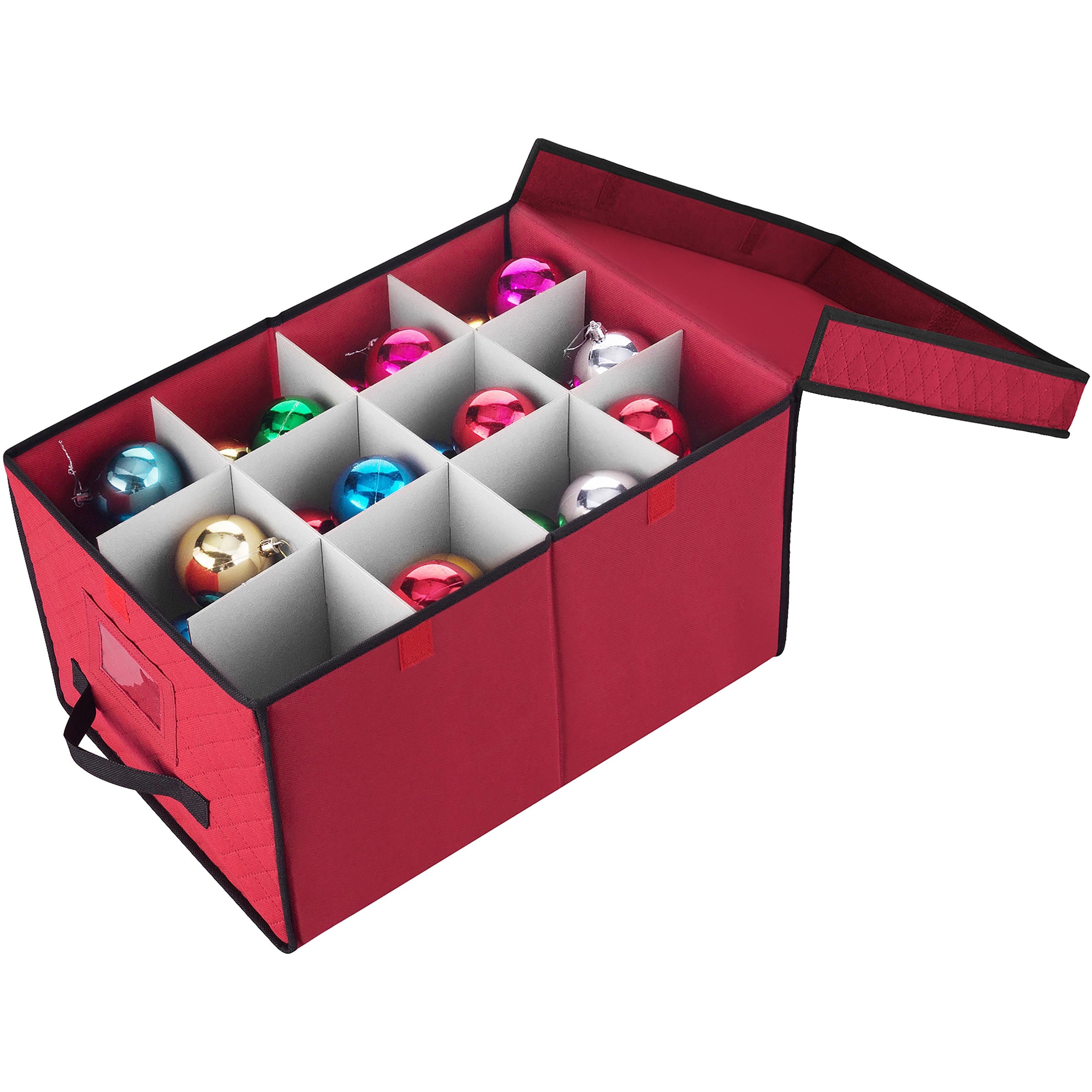 "Elf Stor Ornament Storage Chest (Red, 17'x12""X10""), Multi..."