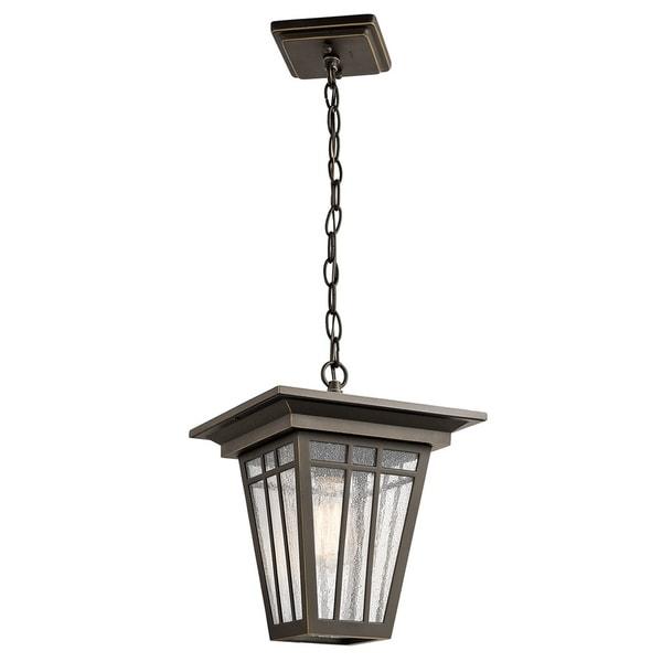 Kichler Lighting Woodhollow Lane Collection 1-light Olde Bronze Outdoor Pendant