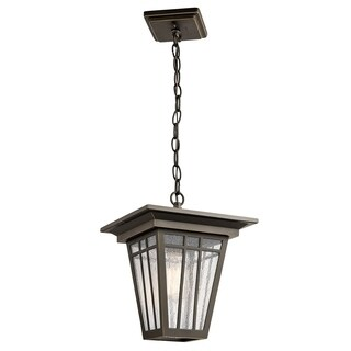 Kichler Lighting Woodhollow Lane Collection 1-light Olde Bronze Outdoor Pendant