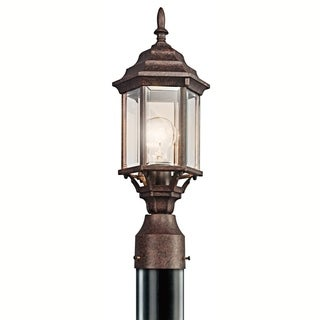 Kichler Lighting Chesapeake Collection 1-light Tannery Bronze Outdoor Post Mount