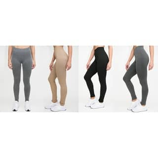 RAG Womens French Terry Soft Heathered Leggings (Pack of 4)|https://ak1.ostkcdn.com/images/products/18153152/P24302829.jpg?impolicy=medium