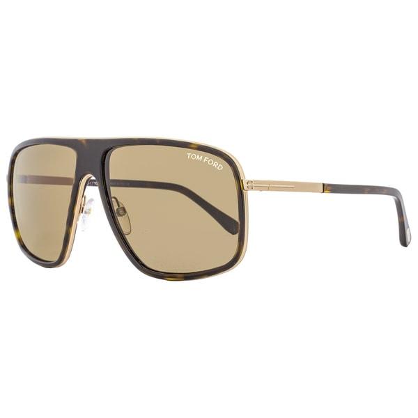 b63115502f Shop Tom Ford TF463 Quentin 52K Women s Dark Havana Gold Roviex Lens ...