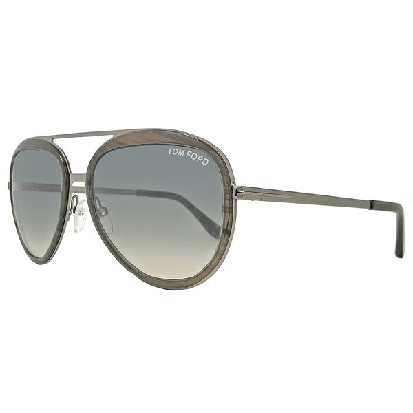 3d9f21cb0123 Shop Tom Ford TF468 Andy 50B Women s Transparent Brown Gray Ochre Gradient  Lens Sunglasses - Free Shipping Today - Overstock - 18153180
