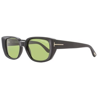 Tom Ford TF492 Raphael 01N Women's Shiny Black/Gold/Green Lens Sunglasses