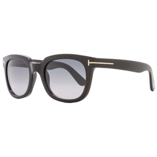 753a025383d3 Shop Tom Ford TF198 Campbell 01B Women s Shiny Black Gold Gray Gradient  Lens Sunglasses - Free Shipping Today - Overstock - 18153208