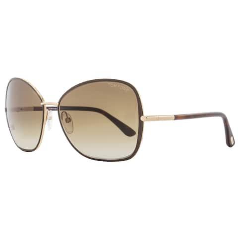 Tom Ford TF319 Solange 28F Women's Brown/Gold/Havana/Brown Gradient Lens Sunglasses
