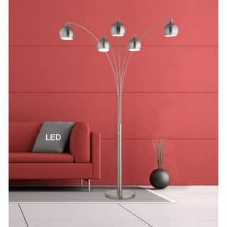 """Artiva AMORE 86"""" Brushed Nickel LED Arch Floor Lamp W/ Dimmer https://ak1.ostkcdn.com/images/products/18153224/P24302870.jpg?impolicy=medium"""