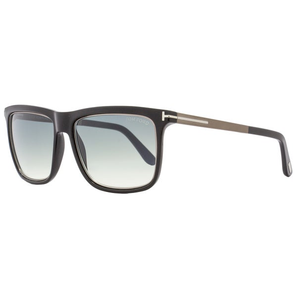 6a4017b0e8931 Shop Tom Ford TF392 Karlie 02W Women s Shiny Black Ruthenium Gray Blue  Gradient Lens Sunglasses - Free Shipping Today - Overstock - 18153227