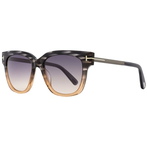 f5ba80c909 Shop Tom Ford TF436 Tracy 20B Women s Peach Melange Gray Beige Gray  Gradient Lens Sunglasses - Free Shipping Today - Overstock - 18153230