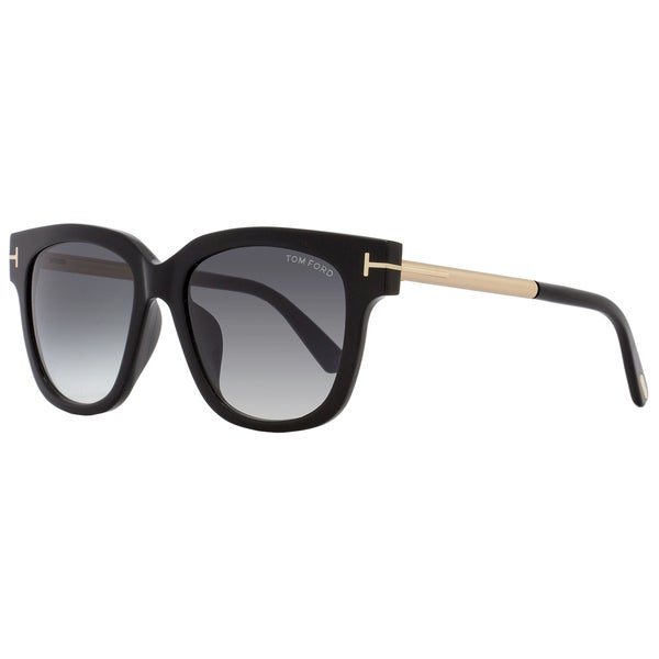 c3f2d0d51b Shop Tom Ford TF436F Tracy 01B Women s Shiny Black Gold Gray Gradient Lens  Sunglasses - Free Shipping Today - Overstock - 18153231