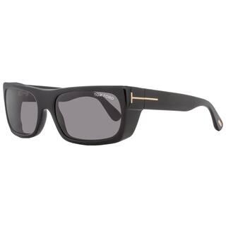 9077bfefa92 Tom Ford TF440 Toby 01A Women s Shiny Black Gold Dark Gray Lens Sunglasses