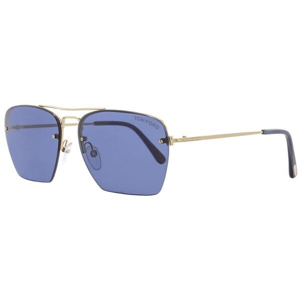 cbe59c28bc9 Shop Tom Ford TF504 Walker 28V Women s Rose Gold Blue Horn Blue Lens  Sunglasses - Free Shipping Today - Overstock - 18153241
