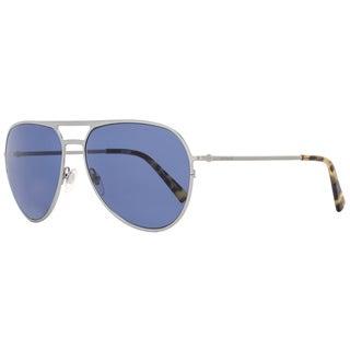 Montblanc MB546S 14V Men's Ruthenium/Havana/Blue Lens Sunglasses