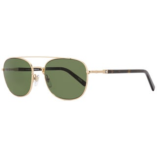Montblanc MB597S 28N Men's Rose Gold/Havana Frame Green Lens Sunglasses