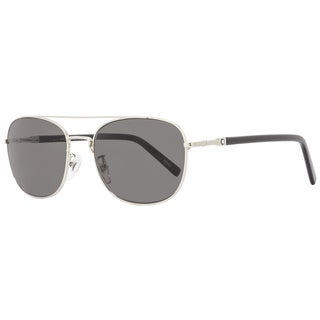Montblanc MB597F 16A Men's Palladium/Black/Gray Lens Sunglasses - Black/palladium