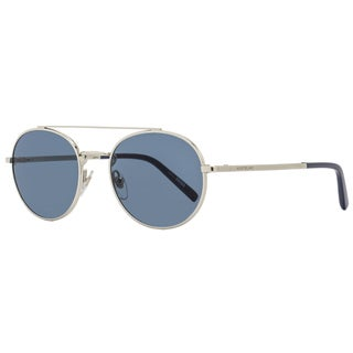 Montblanc MB604S 16V Men's Palladium/Blue/Blue Lens Sunglasses