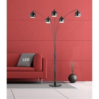 "Artiva AMORE 86"" Jet Black LED Arch Floor Lamp W/ Dimmer"