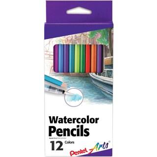 Pentel Arts Watercolor Pencils 12/Pkg