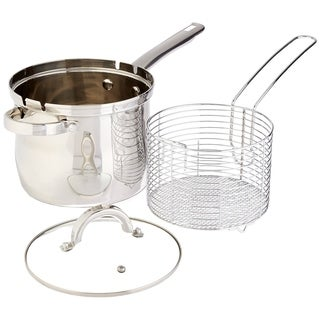 High Quality Stainless Steel 3 pcs. Deep Fryer Set with Basket