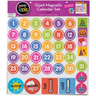"Giant Magnetic Calendar Set 17.5""X13.5"" 94pcs"