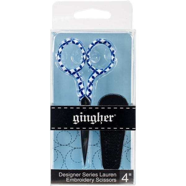 """Gingher Lauren Embroidery Scissors 4"""""""