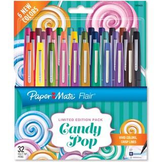 Paper Mate Candy Pop Flair Medium Felt Tip Pens 32/Pkg