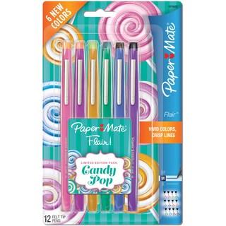 Paper Mate Candy Pop Flair Medium Felt Tip Pens 12/Pkg