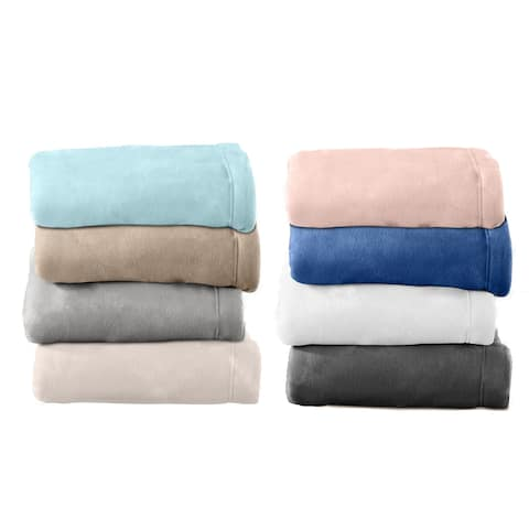 Home Fashion Designs Maya Collection Super Soft Polar Fleece Solid Sheet Set