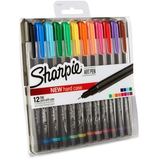 Sharpie Fine Point Art Pen W/Hardcase 12/Pkg