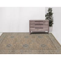Hand-Knotted Ariel Beige Traditional Area Rug (8' x 10')