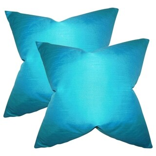 Set of 2  Baldwin Solid Throw Pillows in Turquoise