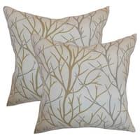 Set of 2  Fderik Trees Throw Pillows in Toffee