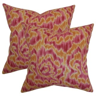 Set of 2 Laserena Throw Pillows in Mango