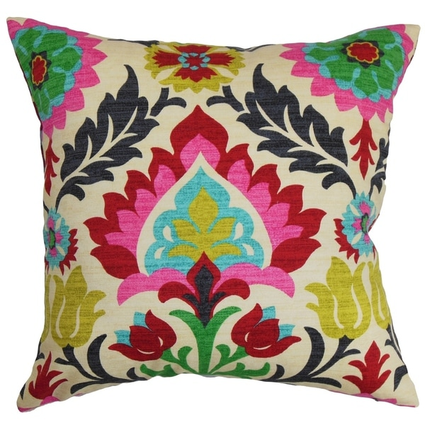 Set of 2 Tahsis Floral Throw Pillows in Multi