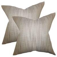 Set of 2  Zebulun Woven Throw Pillows in Neutral
