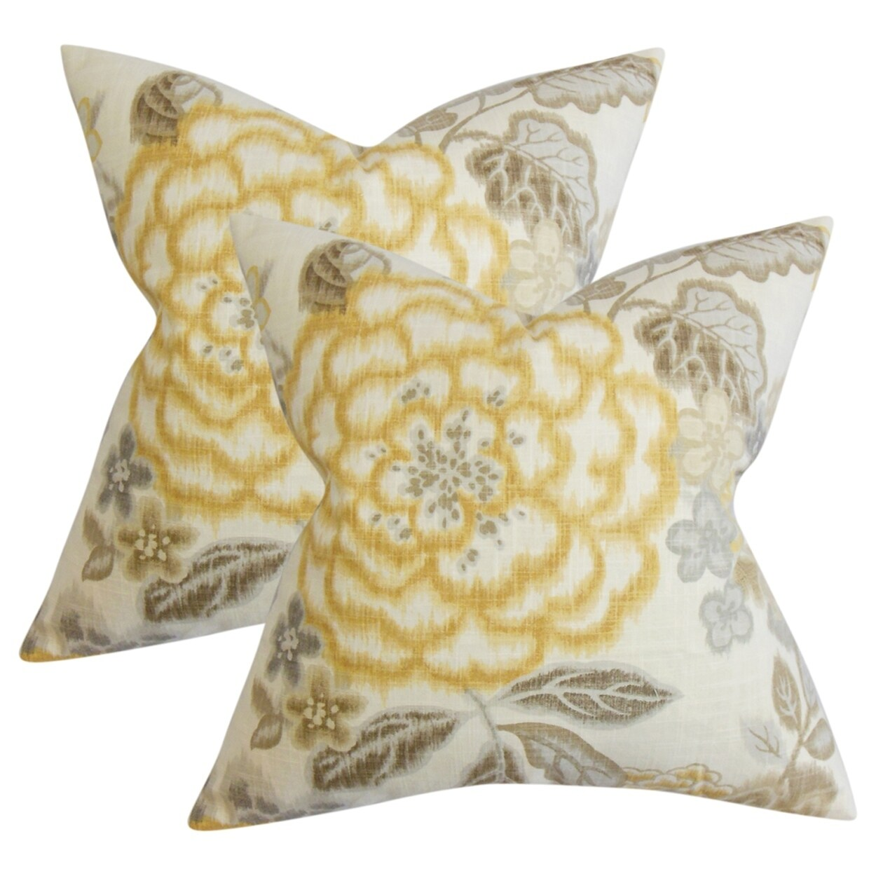 Unai Fl Throw Pillows In Yellow