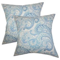 Set of 2  Iphigenia Floral Throw Pillows in Blue