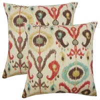Set of 2  Ikea Ikat Throw Pillows in Copper