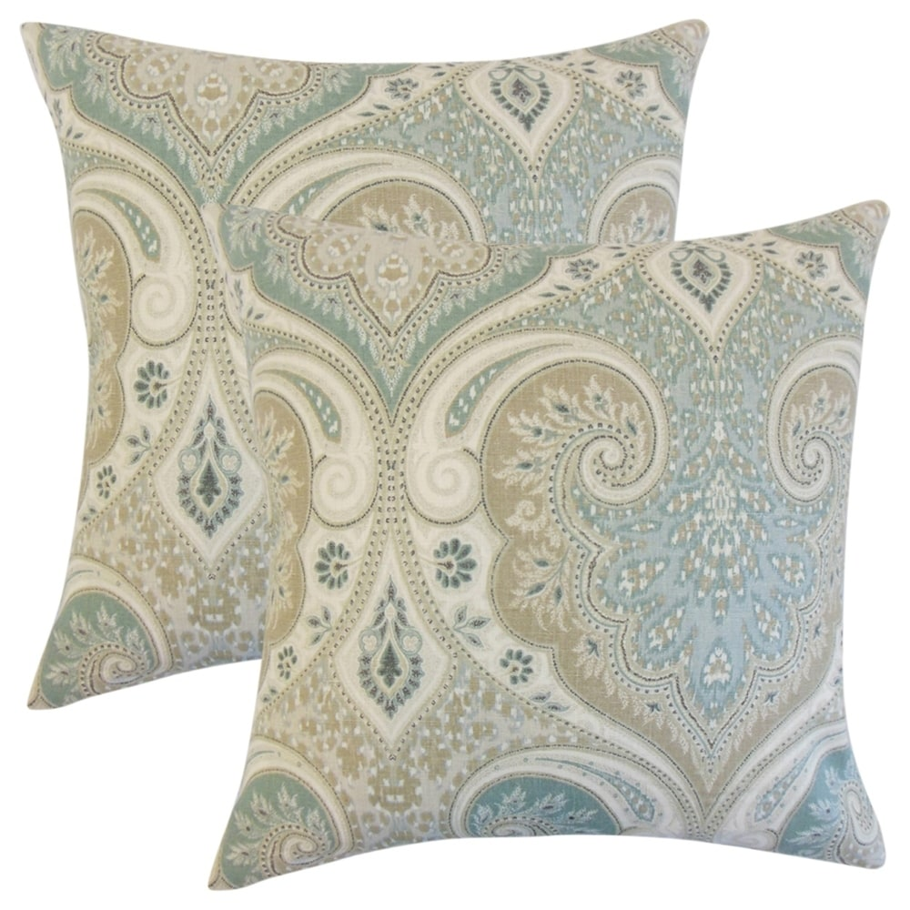 Buy Blue, Damask Throw Pillows Online at Overstock
