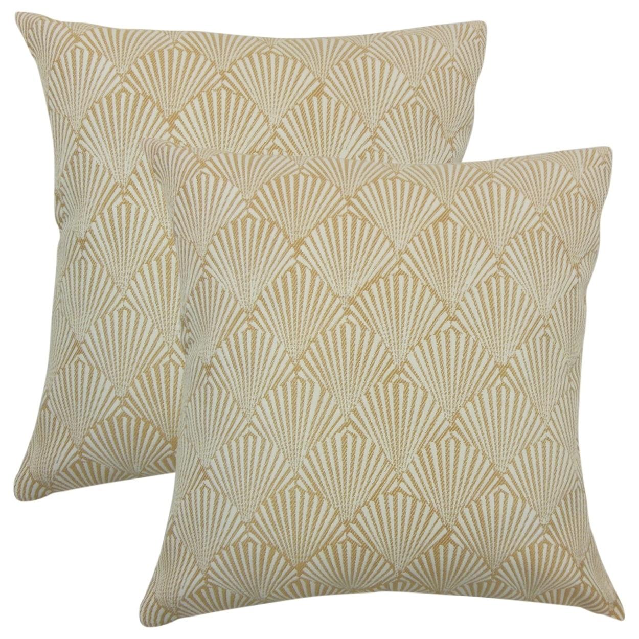 The Pillow Collection Set of 2 Xen Coastal Throw Pillows ...