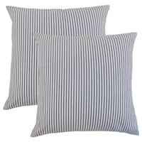 Set of 2  Ira Stripes Throw Pillows in Navy