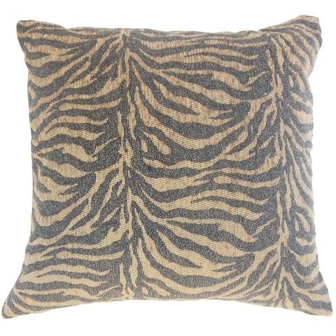 Set of 2 Ksenia Animal Print Throw Pillows in Tiger