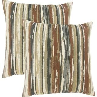 Set of 2  Uchenna Stripes Throw Pillows in Earth