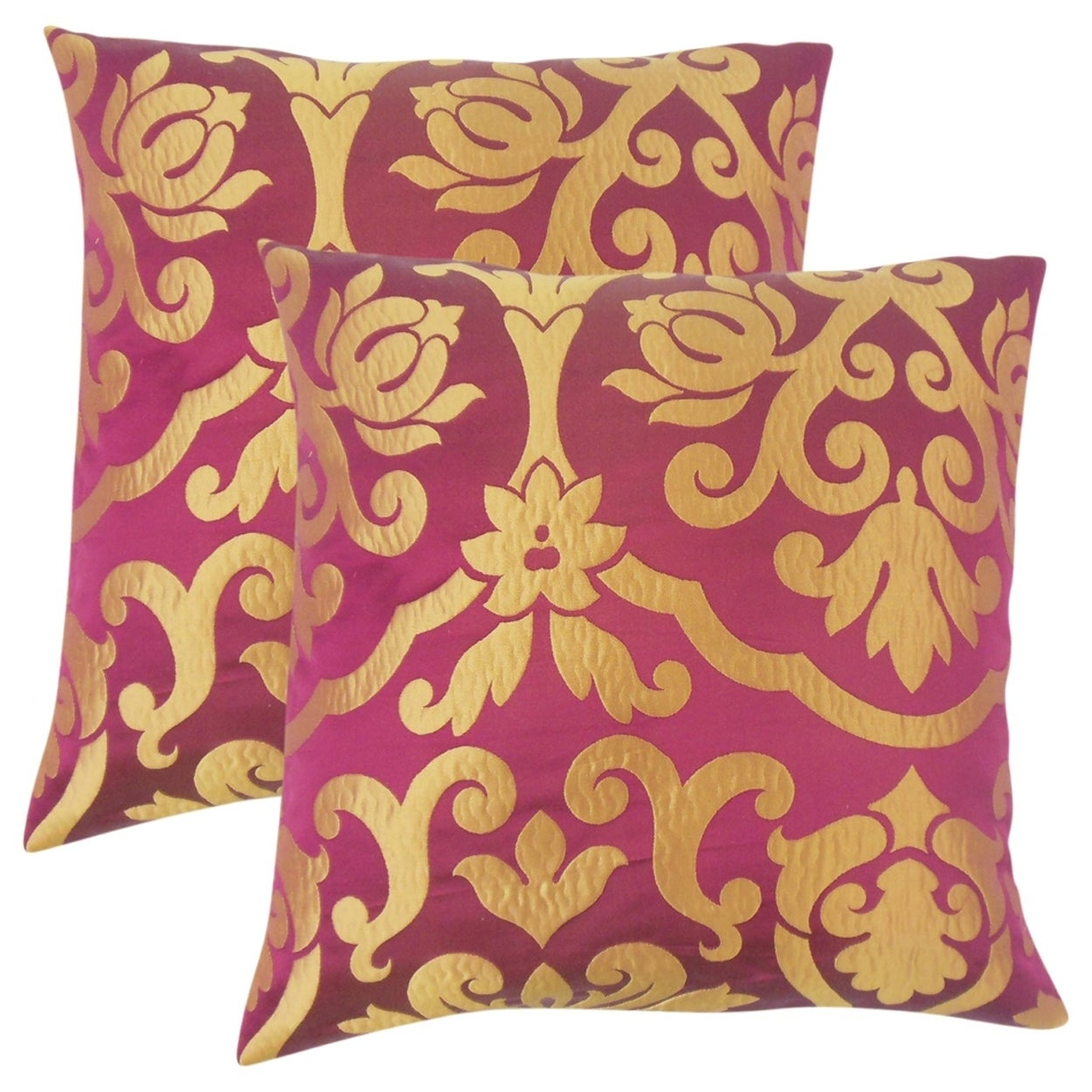 The Pillow Collection Set of 2 Sahalie Damask Throw Pillo...