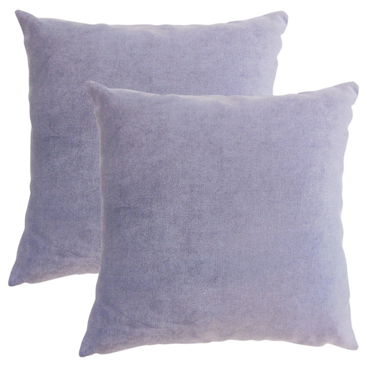 Set of 2  Xyla Solid Throw Pillows in Violet