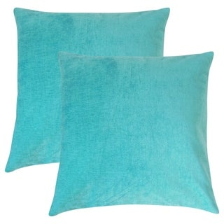Set of 2  Elior Solid Throw Pillows in Turquoise
